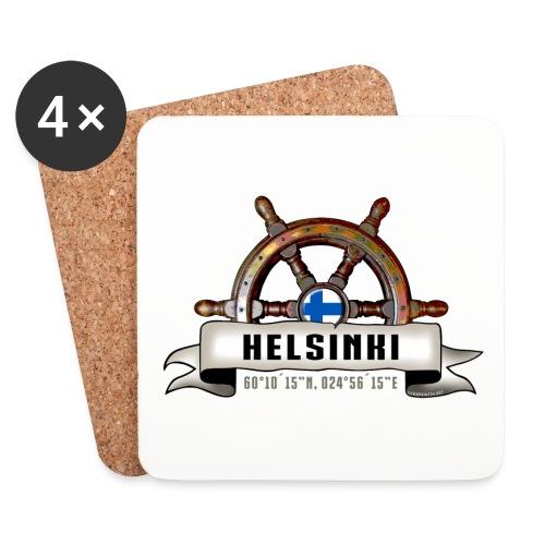 Helsinki Ruori - Merelliset tekstiilit ja lahjat - Lasinalustat (4 kpl:n setti)