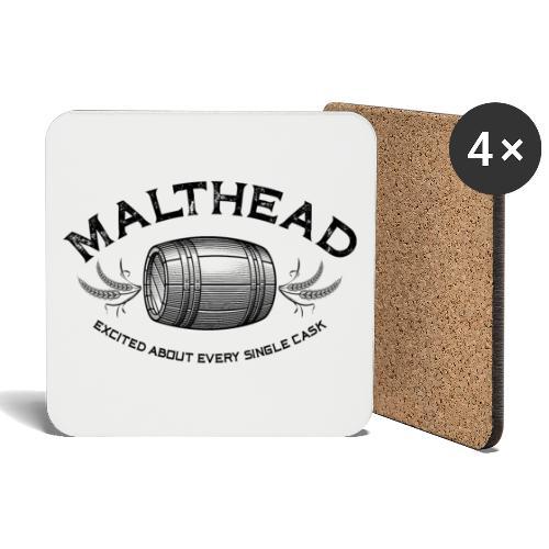 Malthead 01 Dark - Untersetzer (4er-Set)