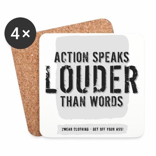 Action Speaks... LG √ - Glasbrikker (sæt med 4 stk.)
