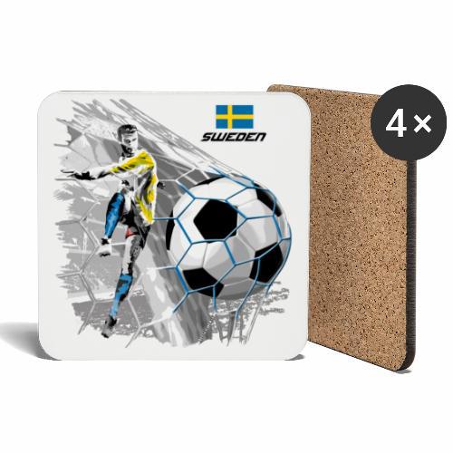 FP22F 16 SWEDEN FOOTBALL - Lasinalustat (4 kpl:n setti)