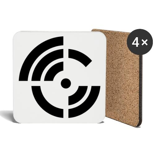 electroradio.fm logo - Coasters (set of 4)