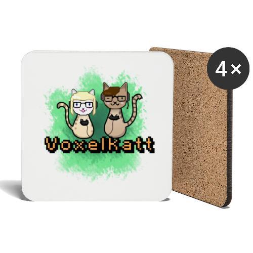 Voxelkatt retro logo - Underlägg (4-pack)