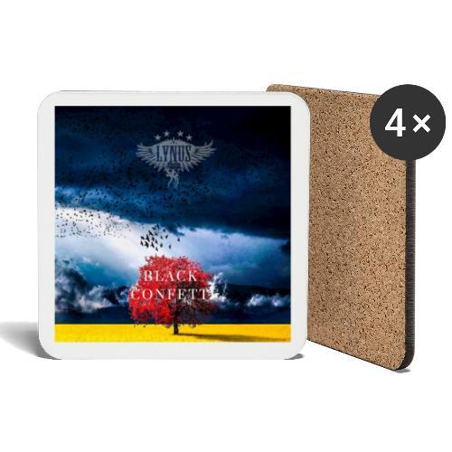 Black Confetti Promo Design - Coasters (set of 4)