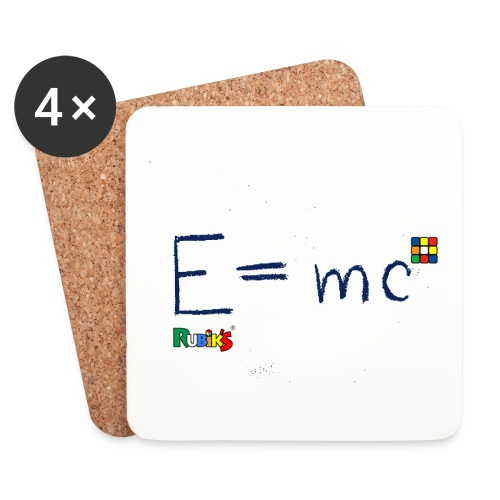 Rubik's E = mc Blue - Underlägg (4-pack)