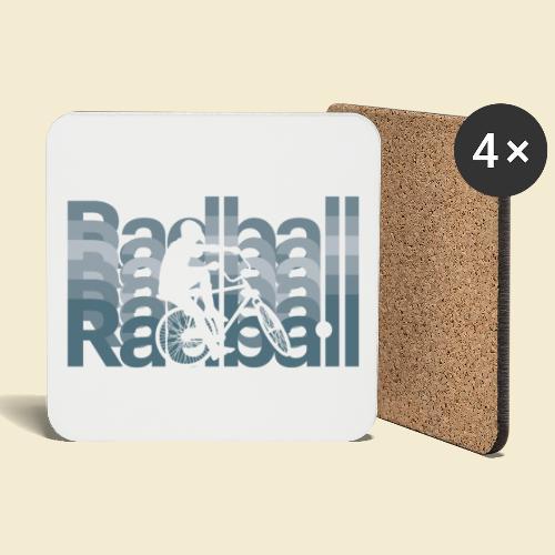 Radball   Typo Art - Untersetzer (4er-Set)