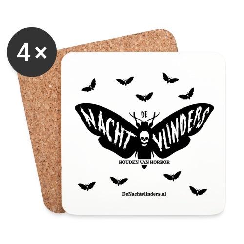 De Nachtvlinders houden van horror! - Onderzetters (4 stuks)