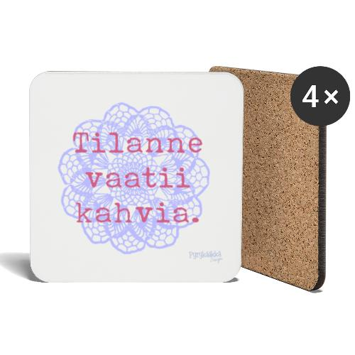 Kahvia! - Lasinalustat (4 kpl:n setti)