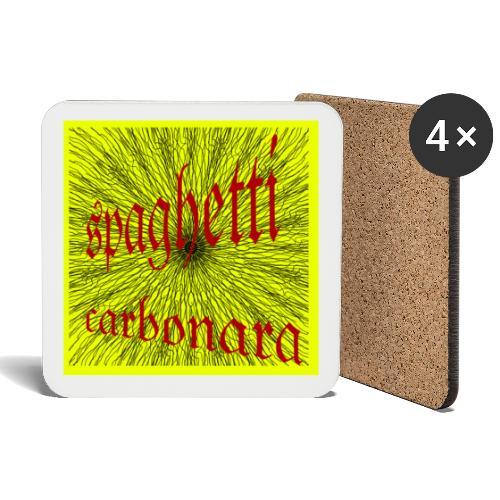 spaghetti carbonara - Untersetzer (4er-Set)