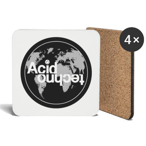 acid world clear - Podstawki (4 sztuki w zestawie)