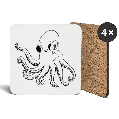 Little octopus - Coasters (set of 4)