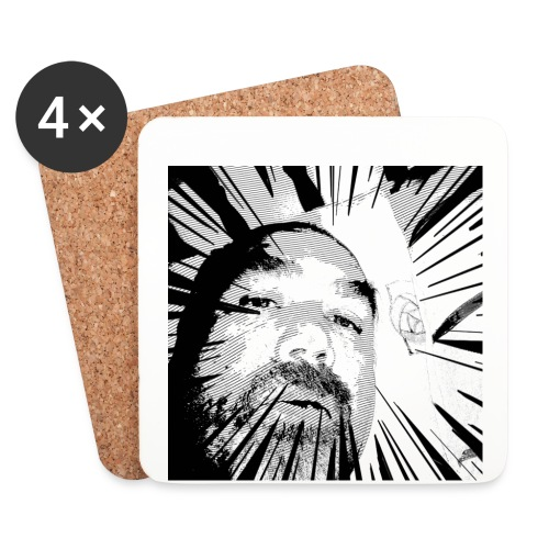 Shattered portrait - Coasters (set of 4)