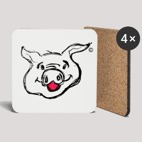 PIGGY Black - Coasters (set of 4)