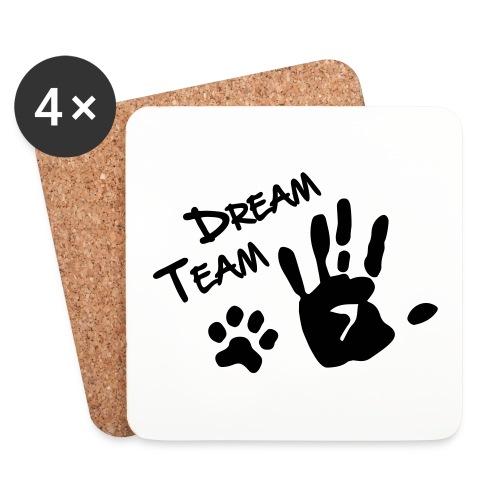 Vorschau: Dream Team Hand Hundpfote - Untersetzer (4er-Set)