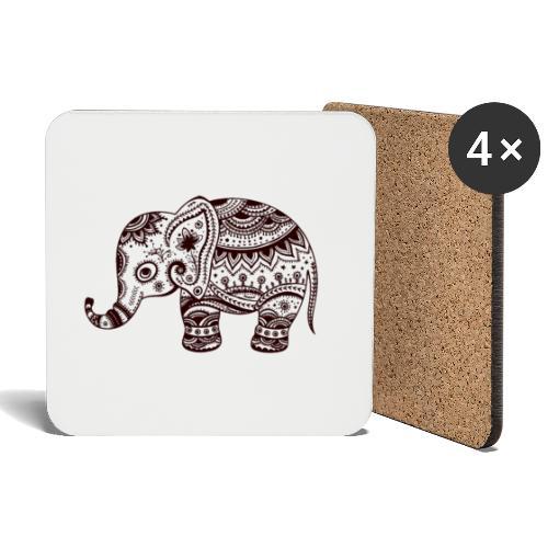 Your-Child Mandala Elefant - Glasbrikker (sæt med 4 stk.)