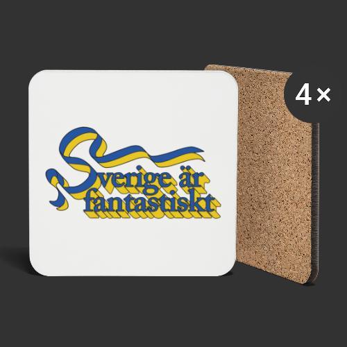 Sverige är fantastiskt - Underlägg (4-pack)