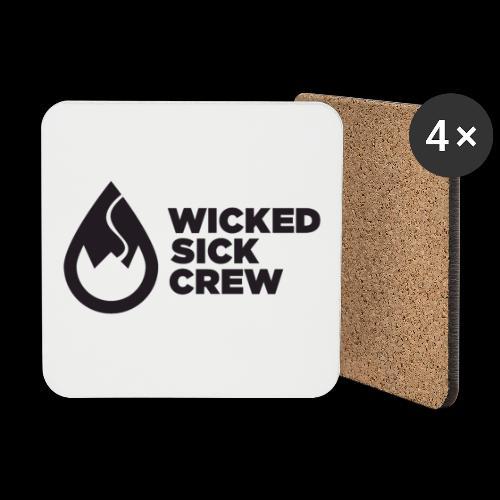 Wicked Sick Crew Tropfen schwarz - Untersetzer (4er-Set)