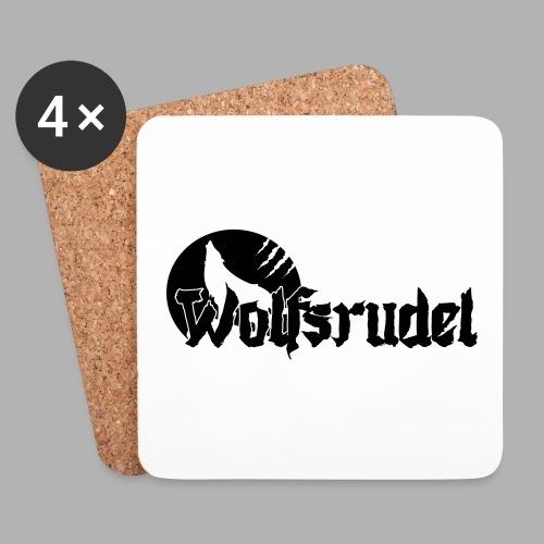 Vektor Logo Wolfsrudel - Untersetzer (4er-Set)