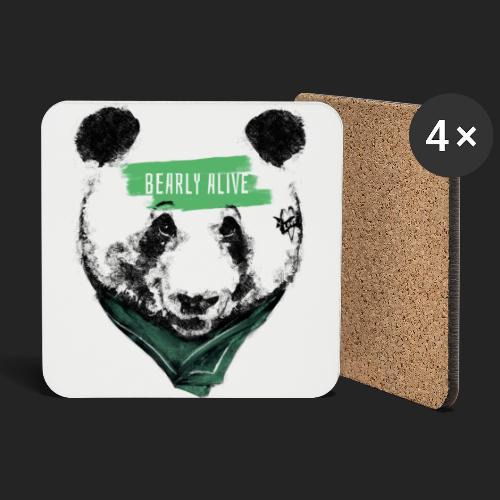 Panda bearly alive - Dessous de verre (lot de 4)