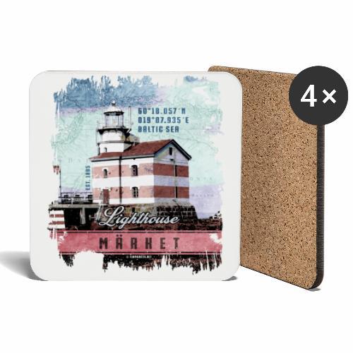 Märket majakkatuotteet, Finland Lighthouse, väri - Lasinalustat (4 kpl:n setti)