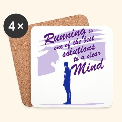Filosofico - Runnig is one the best solutions - Sottobicchieri (set da 4 pezzi)