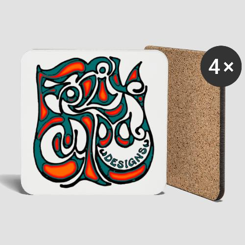 Felix Culpa Designs square logo - Coasters (set of 4)