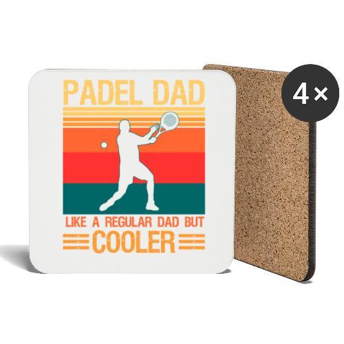 Padel Pappa Som en Vanlig Pappa Men Mycket Coolare - Underlägg (4-pack)