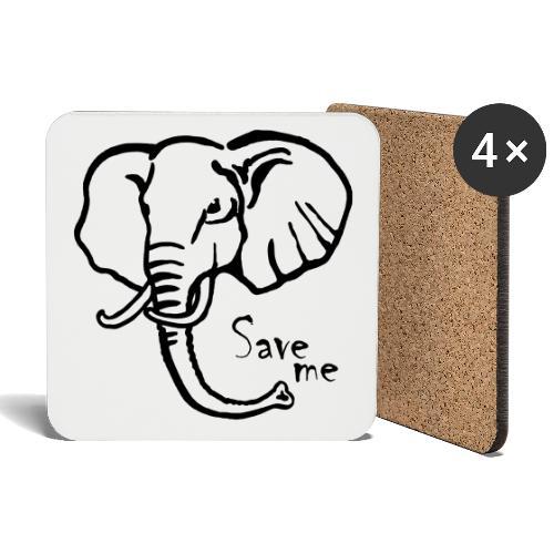 Afrika-Elefant I Save me - Untersetzer (4er-Set)