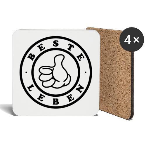 Beste Leben Logo - Untersetzer (4er-Set)