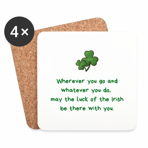TraditionalIrishBlessing - Coasters (set of 4)