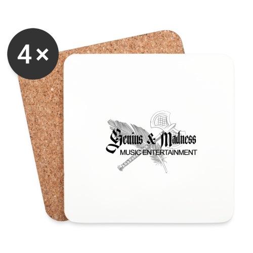 Genius and Madness White Edition - Untersetzer (4er-Set)