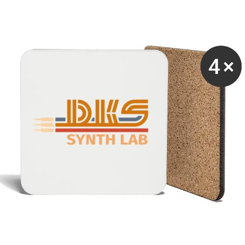 DKS SYNTH LAB Flat Orange-Orange - Sottobicchieri (set da 4 pezzi)