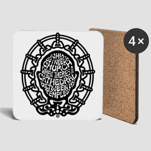 FREE THINKER (b/w) - Coasters (set of 4)
