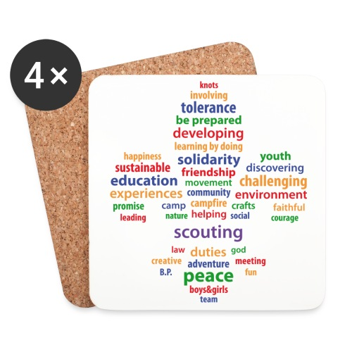 scouting is colored - Coasters (set of 4)