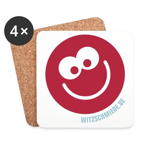 17 2 Witzschmiede Smiley - Untersetzer (4er-Set)