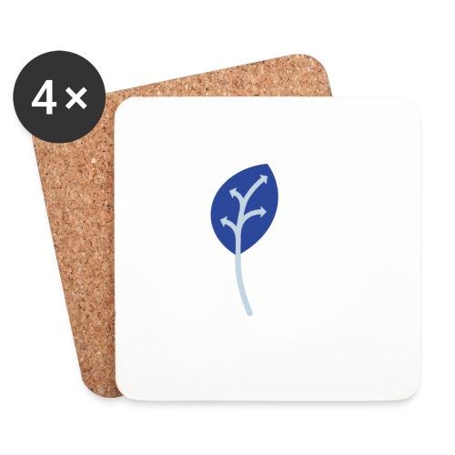 Adveris blu - Sottobicchieri (set da 4 pezzi)