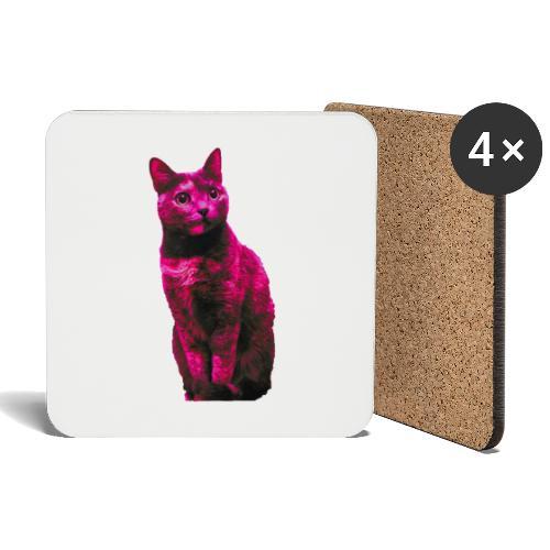 Gatto - Sottobicchieri (set da 4 pezzi)