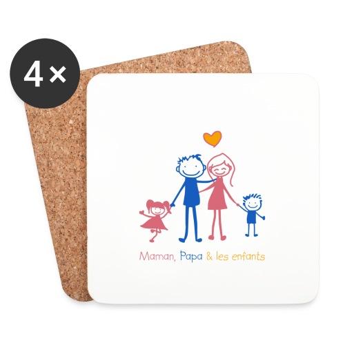 Maman Papa les enfants - Dessous de verre (lot de 4)