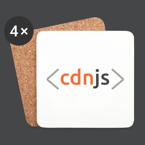 cdnjs Dark Logo (Accessories) - Coasters (set of 4)