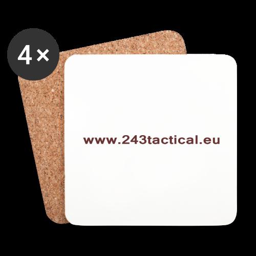 .243 Tactical Website - Onderzetters (4 stuks)
