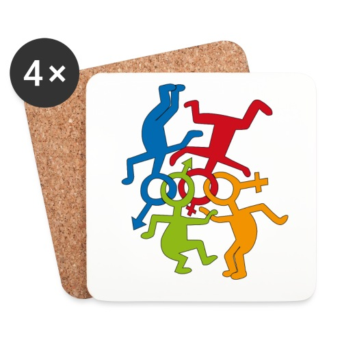 loveislove ris 600 png - Coasters (set of 4)