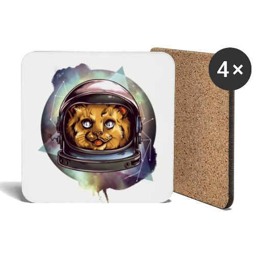 Cute astronaut kitten - Coasters (set of 4)