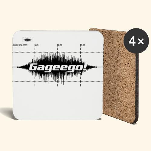 Gageego logga vit text - Underlägg (4-pack)