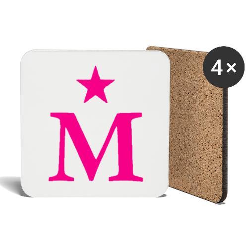 M de Moderdonia rosa - Posavasos (juego de 4)