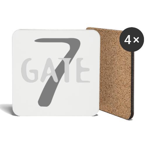 Gate-7 Logo hell - Untersetzer (4er-Set)