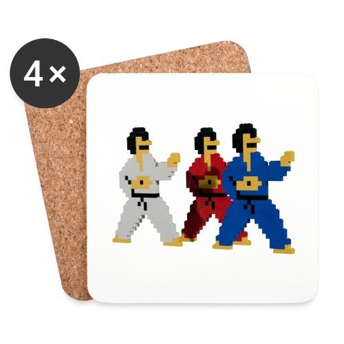 8 bit trip ninjas 1 - Coasters (set of 4)