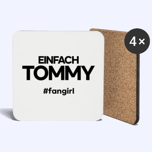 Einfach Tommy / #fangirl / Black Font - Untersetzer (4er-Set)