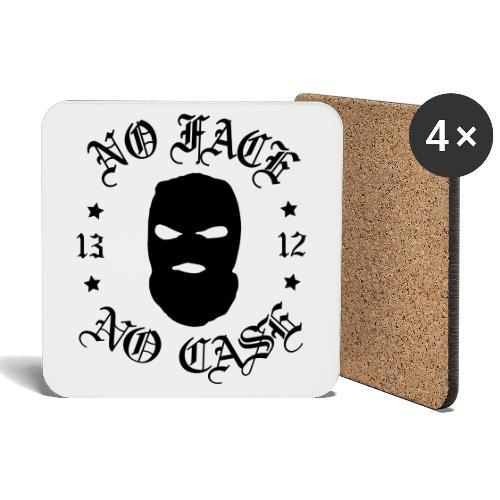 No Face, No Case - Skimask - musta iso printti - Lasinalustat (4 kpl:n setti)