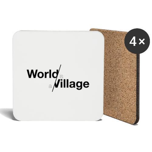 world is a village - Dessous de verre (lot de 4)