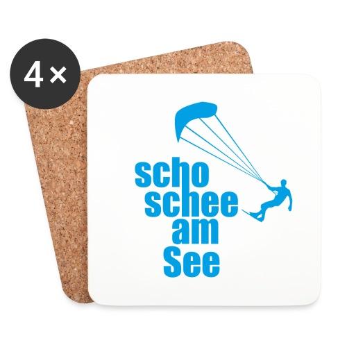 scho schee am See Surfer 01 kite surfer - Untersetzer (4er-Set)
