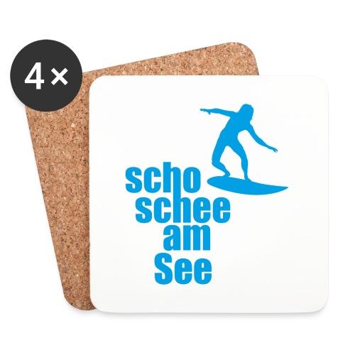 scho schee am See Surfer 04 - Untersetzer (4er-Set)